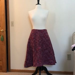 A line Anthropologie Tweed Skirt